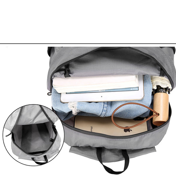 Portable Foldable Backpack Waterproof Backpack Folding Bag Ultralight Outdoor Back Pack for Travel Hiking