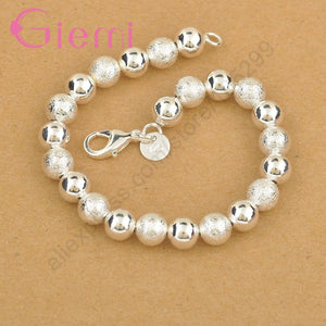 Elegant Silver Color Beads Bracelet