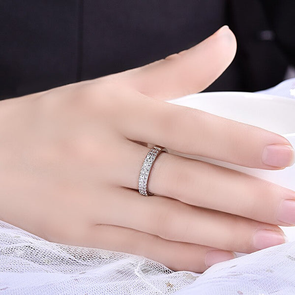 Crystal Rhinestone Ring 2 Colors Rose Gold and Silver Shine Resizable