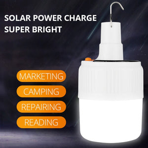 Solar Charge LED Bulb Lamp portable emergency night light outdoor camping, traveling
