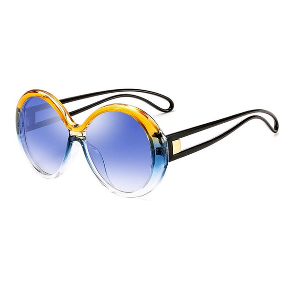 Designer Women Sunglasses Ocean Pie Glasses Round Frame - 8 Colors