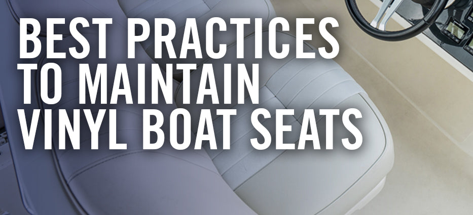 How to keep boat vinyl seats clean