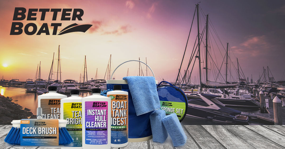 Better Boat Cleaning Products on Dock