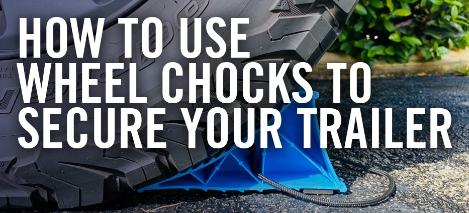 How to stop boat trailer from moving when stored for winter