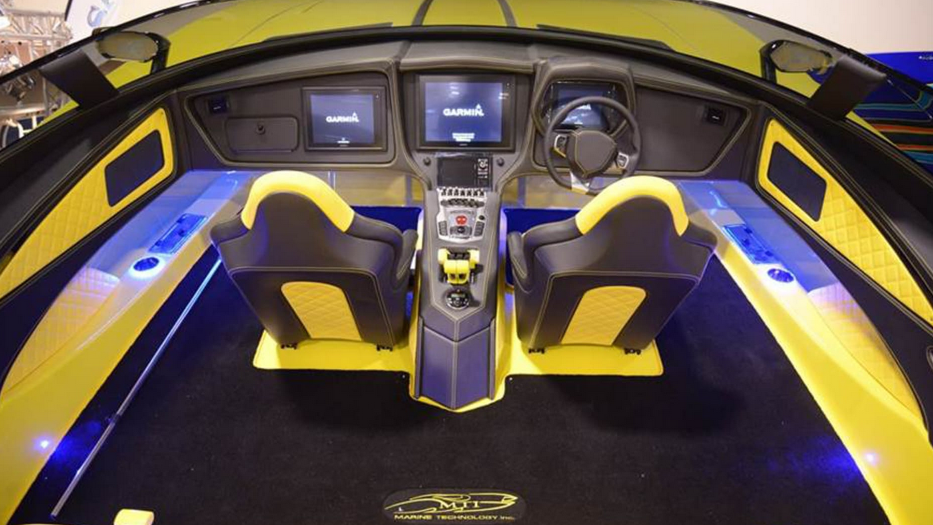 The Fanciest Fishing Boat: By Lamborghini aventador superboat cockpit