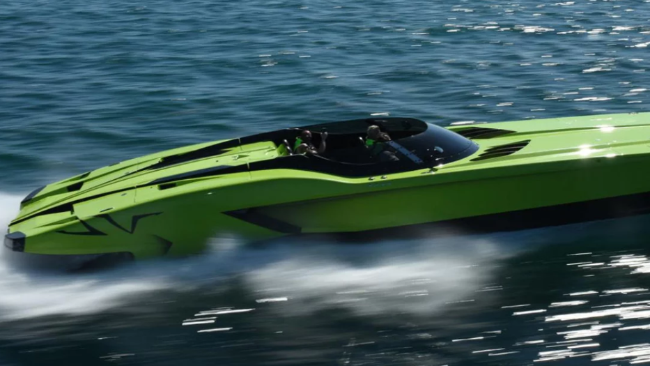 The Fanciest Fishing Boat: By Lamborghini aventador superboat speed