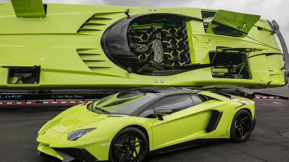 The Fanciest Fishing Boat: By Lamborghini aventador superboat supercar set
