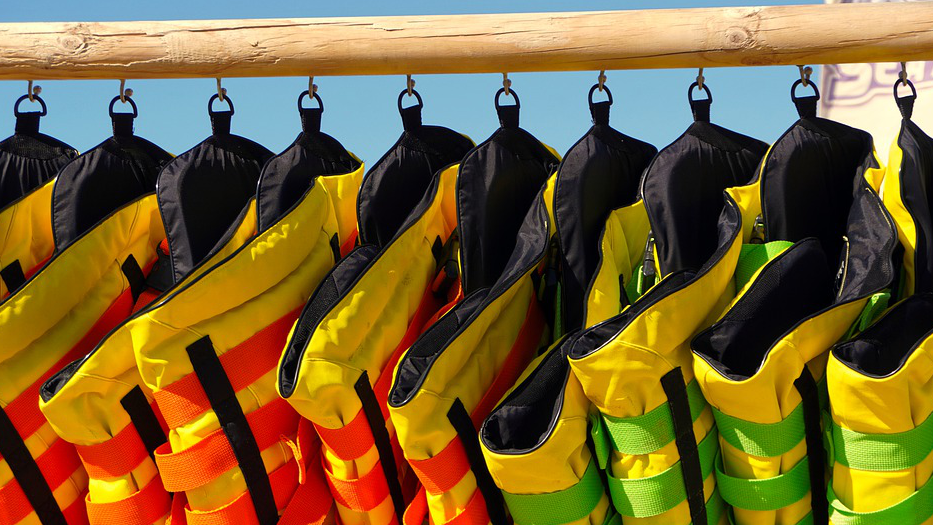 What Should I do if I Run Out Of Gas At Sea? lifejacket rack
