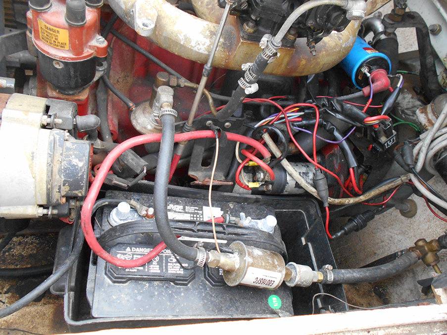 Terrible Boat Engine Wiring Job