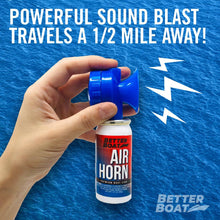 Load image into Gallery viewer, Better Boat Air Horn 1.4oz Powerful Blast