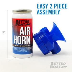 Better Boat Air Horn 1.4oz 2 part assembly
