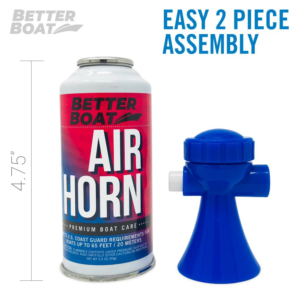 Load image into Gallery viewer, Better Boat Air Horn 3.5oz 2 Piece Setup