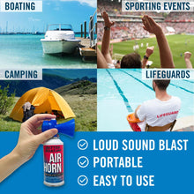 Load image into Gallery viewer, Better Boat Air Horn 3.5oz Uses at Pool Sporting Events Camping Boating