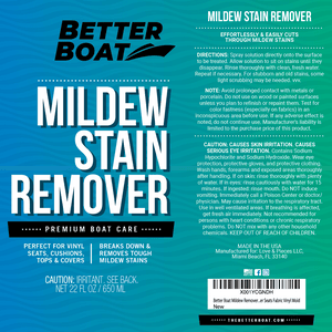 Better Boat Stain And Mildew Remover Label