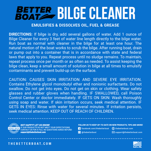 Bilge Cleaner Concentrate Back Label