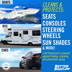 Boat Cleaner Wipes With UV RV boat and car