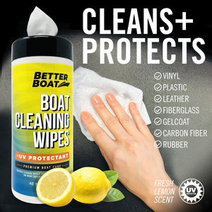 Boat Cleaner Wipes With UV protects and cleans