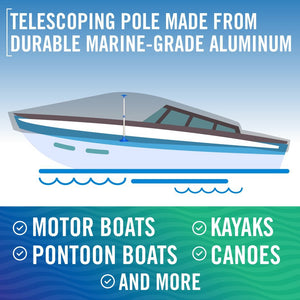 Pole for Boat Cover Rust Free