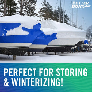 Winterizing Boat Cover with Poles