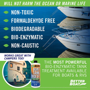 Boat Enzymatic Toilet Tank Digest Use in RV