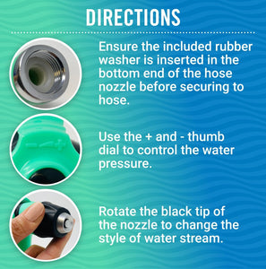 Boat Hose Nozzle Directions for use