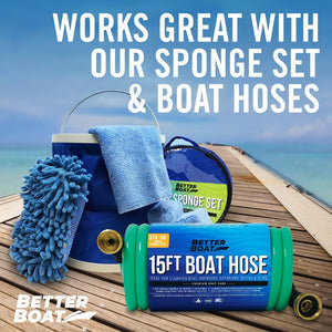 Boat Hose Nozzle and Hose and Sponge Bucket