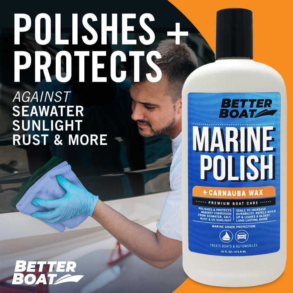 Load image into Gallery viewer, Boat Marine Polish With Carnauba Wax Fiberglass Cleaning