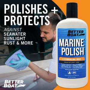 Boat Marine Polish With Carnauba Wax Fiberglass Cleaning