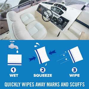 Boat Scuff Erasers Instructions how to use
