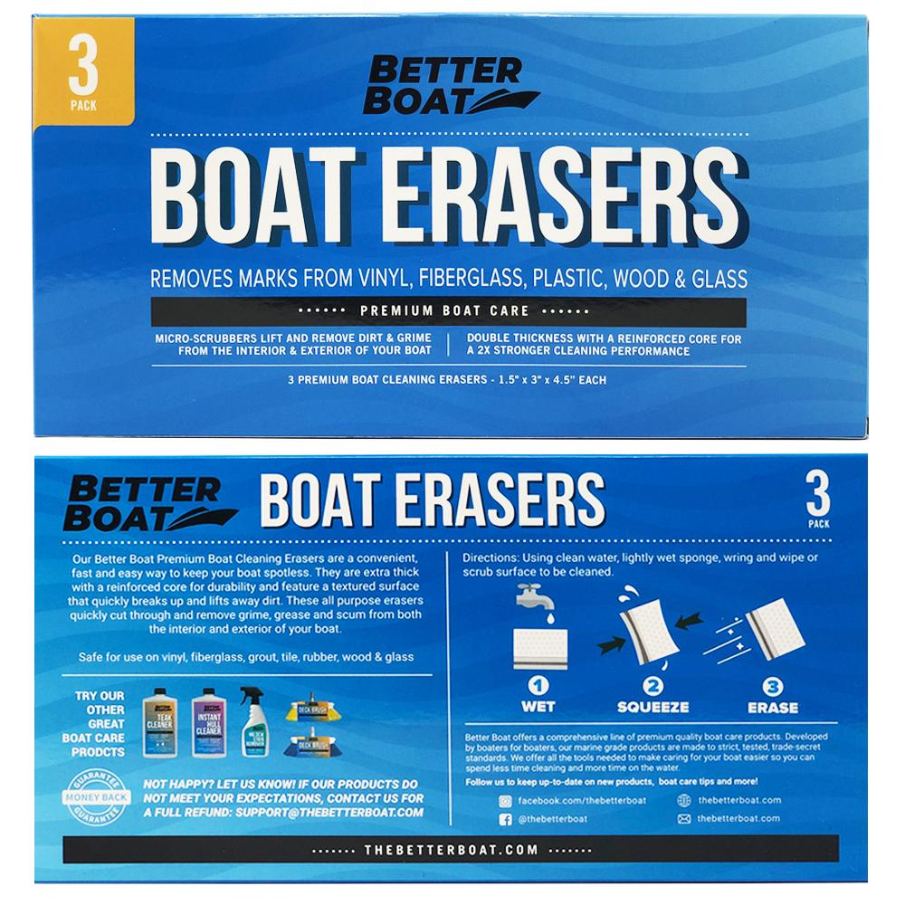 Load image into Gallery viewer, Boat Scuff Erasers Directions and Back of Box