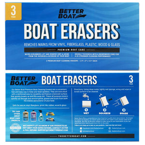 Boat Scuff Erasers Directions and Back of Box