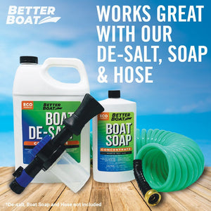 soap flushing kit with hose and sprayer