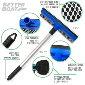 Boat Squeegee And Sponge Screw Hook, Padding and Mesh
