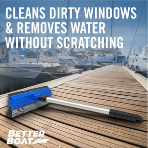 Boat Squeegee And Sponge Cleans Dirty Windows
