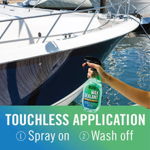 Load image into Gallery viewer, Boat Wax Sealant Hybrid Ceramic Spray Rinse Hull and Deck