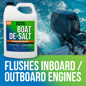 De-Salt Concentrate to Flush Inboard and Outboard Engines