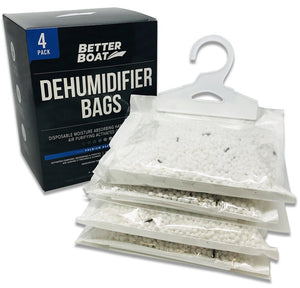 Four Pack Boat Dehumidifier Hanging Bags