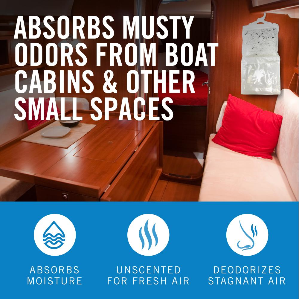 Load image into Gallery viewer, Four Pack Boat Dehumidifier Hanging Bags Absorbs All Smells