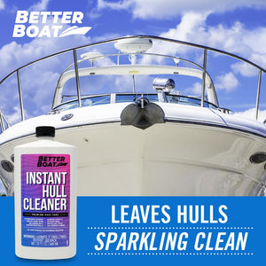 Instant Boat Hull Cleaner With Hull of Boat