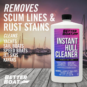 Instant Boat Hull Cleaner On a Dock
