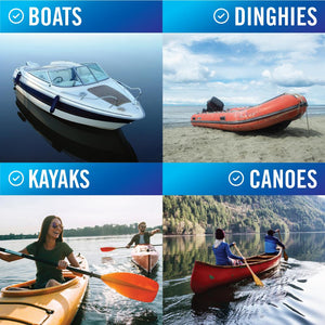 Manual Bilge Pump on canoes kayaks boats