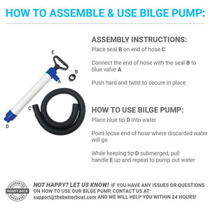 Manual Bilge Pump assembly instructions