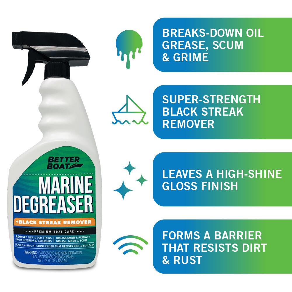 Load image into Gallery viewer, Marine Degreaser Black Streak Remover breaks down oil