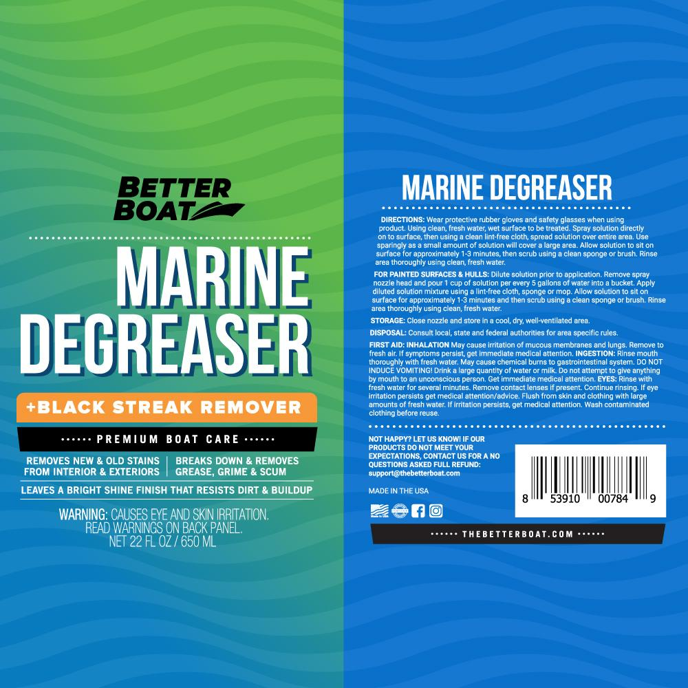 Load image into Gallery viewer, Marine Degreaser Black Streak Remover label
