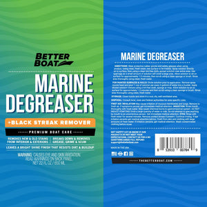 Marine Degreaser Black Streak Remover label