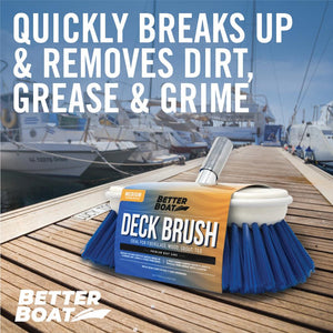 "Medium Bristle 8"" Boat Brush Head on Dock"