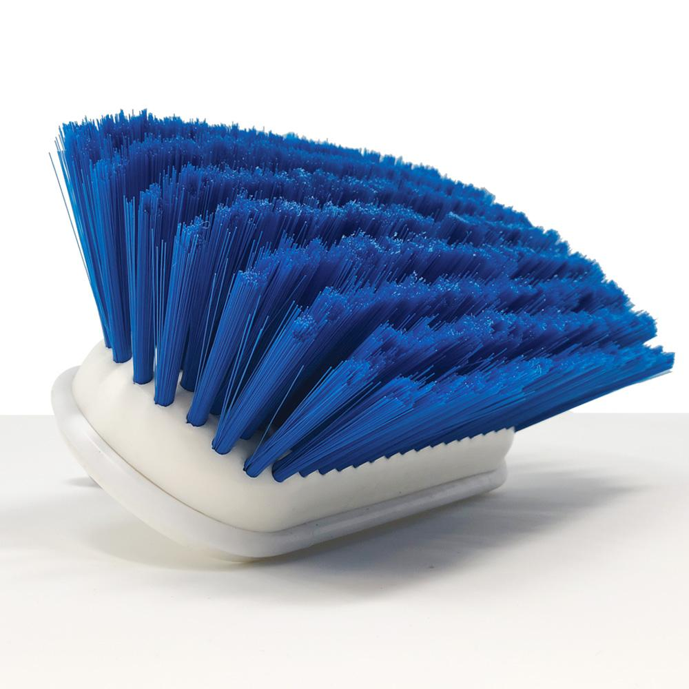 "Load image into Gallery viewer, Medium Bristle 8"" Boat Brush Head Close up Blue Head"
