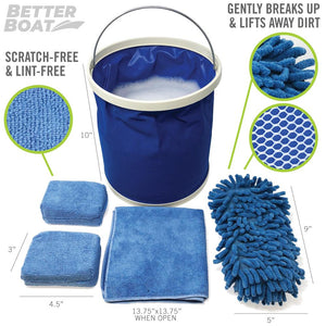 Microfiber Sponge Set Full Set Bundle Kit
