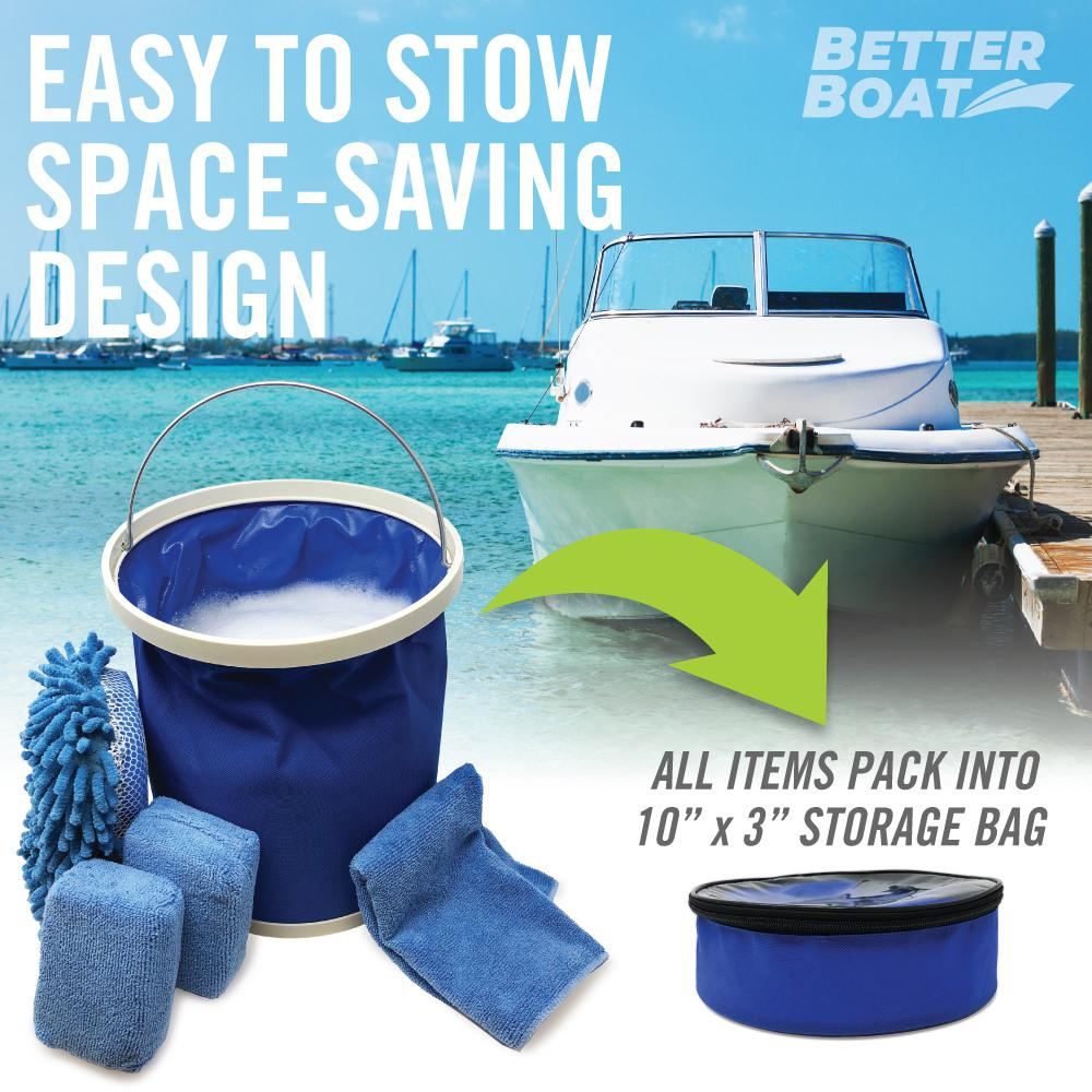 Load image into Gallery viewer, Microfiber Sponge Set Collapsible store in boat