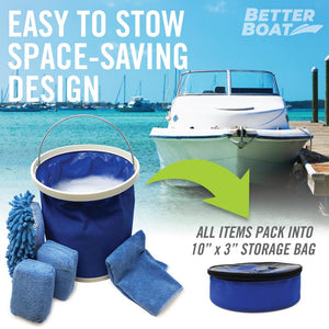 Microfiber Sponge Set Collapsible store in boat